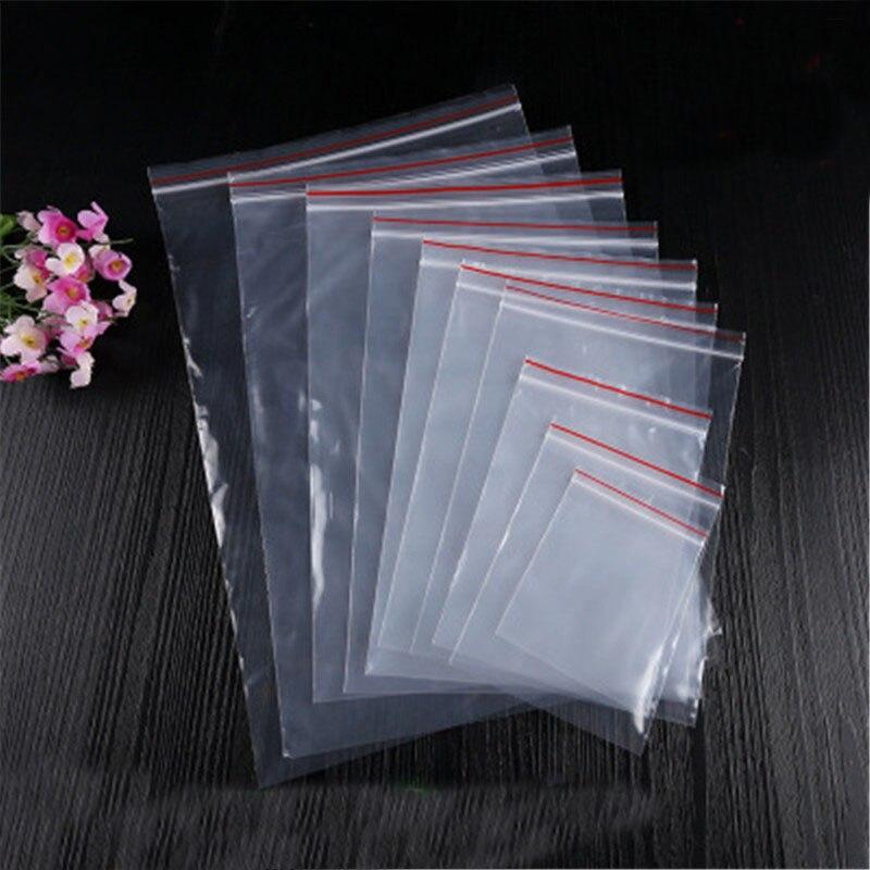 1 pacote/lote sacos de plástico transparentes 4*6/5*7/6*8/7*10/8*12cm claro ziplock saco embalagem de jóias