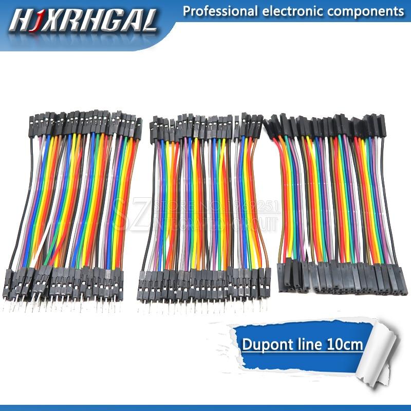 Cable Dupont line 120 Uds 10cm macho a macho + macho a hembra y hembra a hembra cable Dupont para Arduino diy kit hjxrhgal