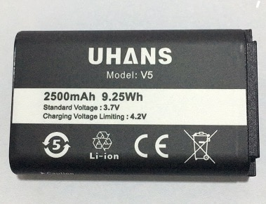 MATCHEASY 100% batterie dorigine pour batterie UHANS V5 2500 mAh