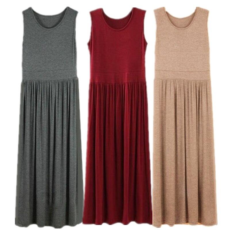 Vestido Feminios 2020 Autumn Plus Size S-5XL 6XL comfortable brand Pleated High Stretch Solid Casual Maxi Dress,bohemian Dress