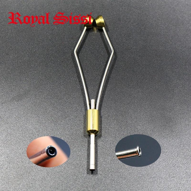 Royal Sissi 2 стиля пули головы держатель катушки с керамическим наконечником трубки или Тыква кончик рта бобины стальной материал муха завязывания инструменты