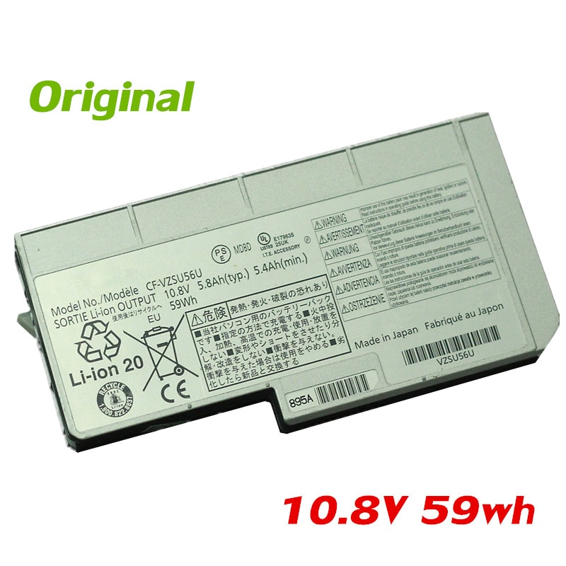 7XINbox 10,8 V 59Wh оригинальный CF-VZSU56U VZSU56U Аккумулятор для ноутбука для Panasonic Toughbook CF-F9 CF-F8
