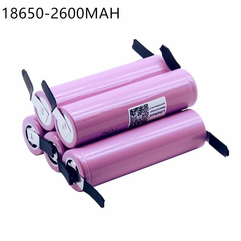 5 PCS New For  ICR18650-26FM 18650 2600 mAh 3.7V Li-ion Battery Rechargeable Battery