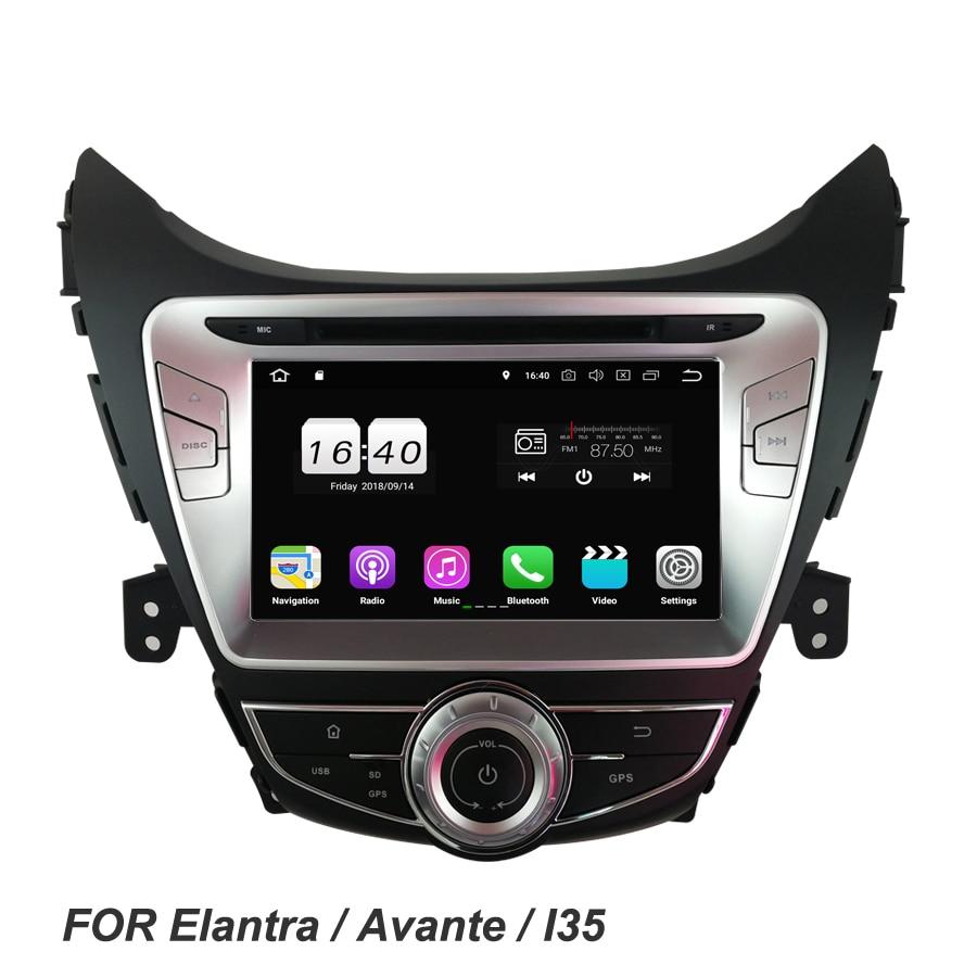 "Android 8,1 2GB RAM 16GB 4 core 8 ""para Hyundai Elantra Avante I35 2011-2013 reproductor de DVD del coche GPS mapa Glonass RDS Radio de coche wifi"