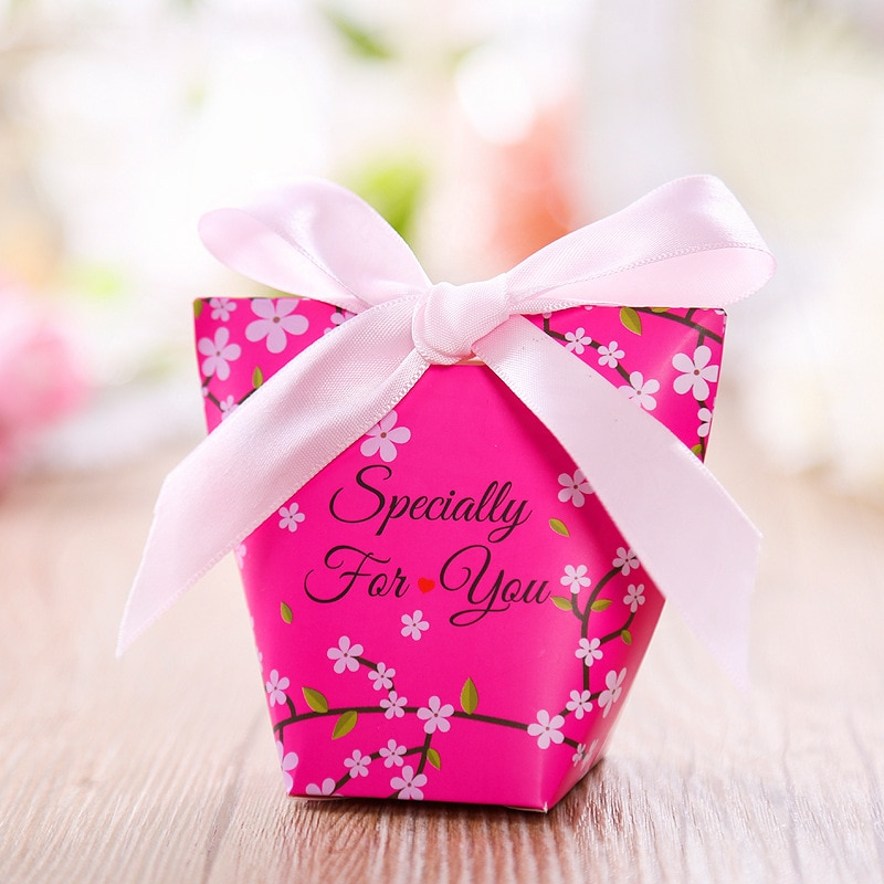 30 Uds. Caja de dulces de boda para matrimonio, Caja de cartón...