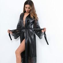 Vêtements de nuit Sexy déshabillé en dentelle femmes robe de nuit femmes Pyjamas été déshabillé nuisette Sexy Lingerie peignoir vêtements de maison