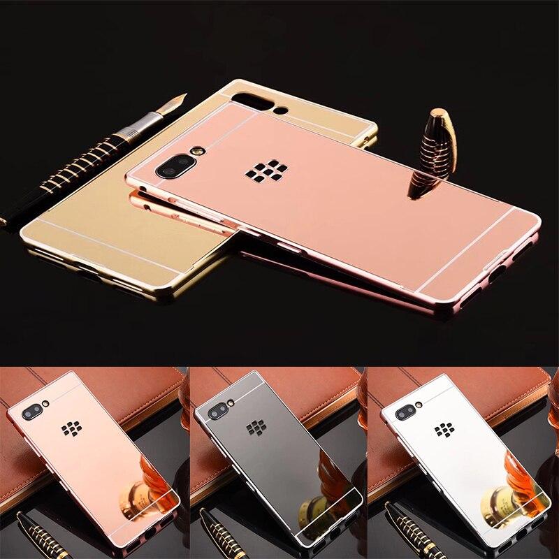 Роскошные зеркальные чехлы из розового золота для Blackberry Key 2 алюминиевая металлическая рамка задняя крышка для Blackberry Key2