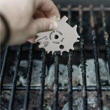 Lame de nettoyage Barbecue outil de nettoyage Portable en acier inoxydable grille grattoir avec le meilleur gril grattoir lettres BBQ accessoires