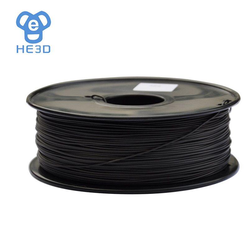 HE3D reprap 3D принтер нить ABS проводящий 1,75 диаметр 1кг 2.2lb черный цвет Высокое качество 3D печать материал