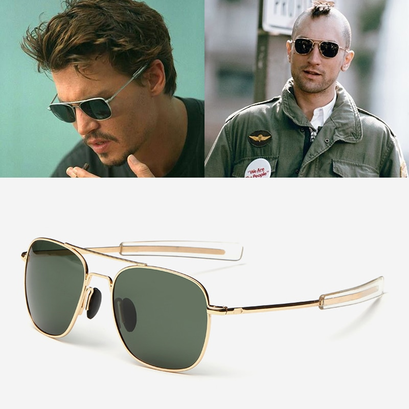 JackJad Fashion Men Army MILITARY Aviation Style Polarized Sunglasses Driving Brand Design Sun Glass