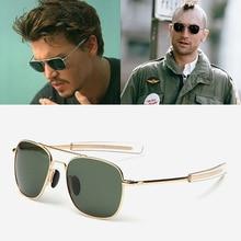 JackJad Fashion Men Army MILITARY Aviation Style Polarized Sunglasses Driving Brand Design Sun Glass