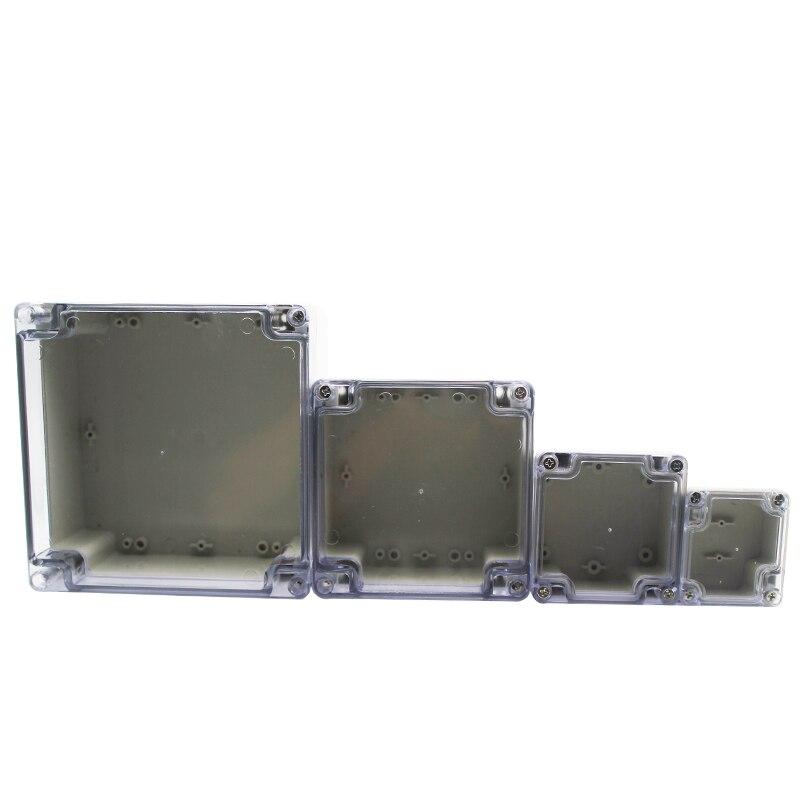 Caja de cerramiento de caja de plástico a prueba de agua, cubierta transparente, caja de instrumentos para proyecto eléctrico, caja con funda transparente