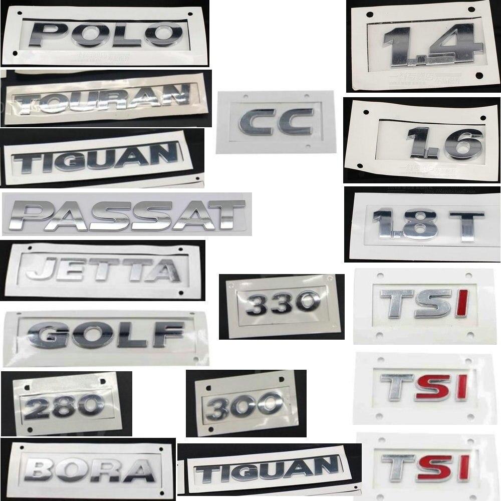 GOLF POLO BORA JETTAa PASSAT TIGUAN TOURAN CC TSI 1,4 1,6 230 300 330 380 ABS гальванические задние автомобильные Логотипы