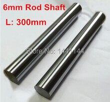 20pcs linear shaft 6mm diameter 300mm long harden linear rod round shaft chrome plated
