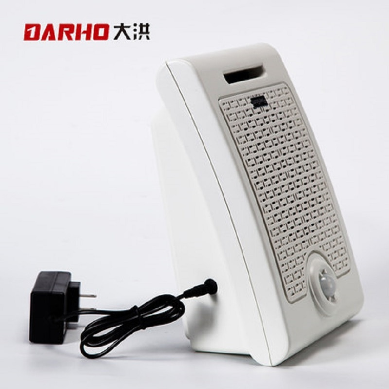 Darho Wall PIR Motion Sensor Audio Speaker Infrared Body Sensor Alarm Public Place Voice Broadcast Welcome Machine