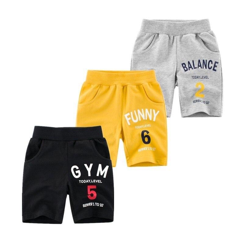 NOVEDAD DE VERANO 2019, pantalones cortos informales para niños, pantalones deportivos de algodón para niños de 2 a 8 años, pantalones de ocio para niños