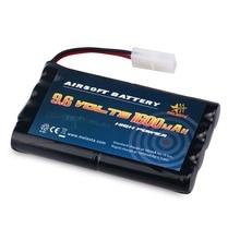 Batterie Melasta 9.6v AA 1600mAh NiMH avec connecteur Tamiya pour voitures RC bateaux RC Gadgets pistolets Airsoft