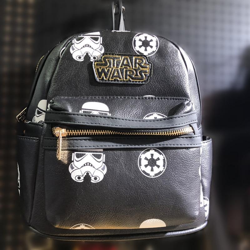 Star Wars PU Leather Backpack  Deadpool Hero Boys Girls Kid's Small Backpack Anime Shoulder School Travel Bag Gift