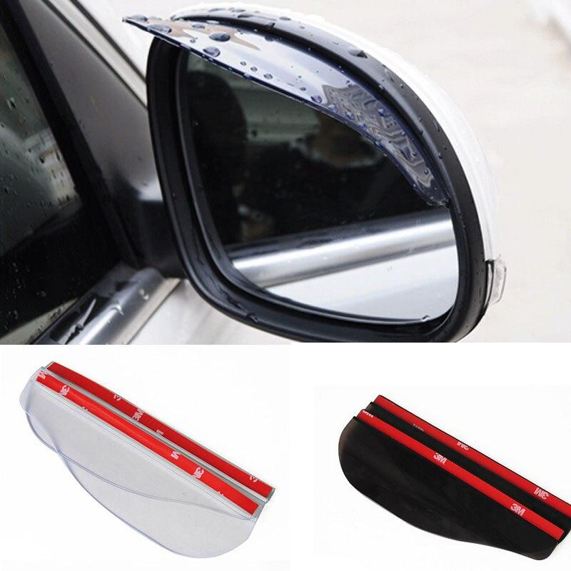 Espejo retrovisor Flexible de PVC frente a la lluvia 2 uds estilo de coche frente de lluvia para Kia Rio K2 Sportage Soul Mazda 3 6 CX-5 Lada Skoda