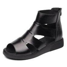 Heißer Verkauf 2020 Neue Sommer Frauen Sandalen Flachen, Nicht-slip Echtem Leder Schuhe Frauen Schuhe Sandalen Hohl Atmungs Mode sandalen