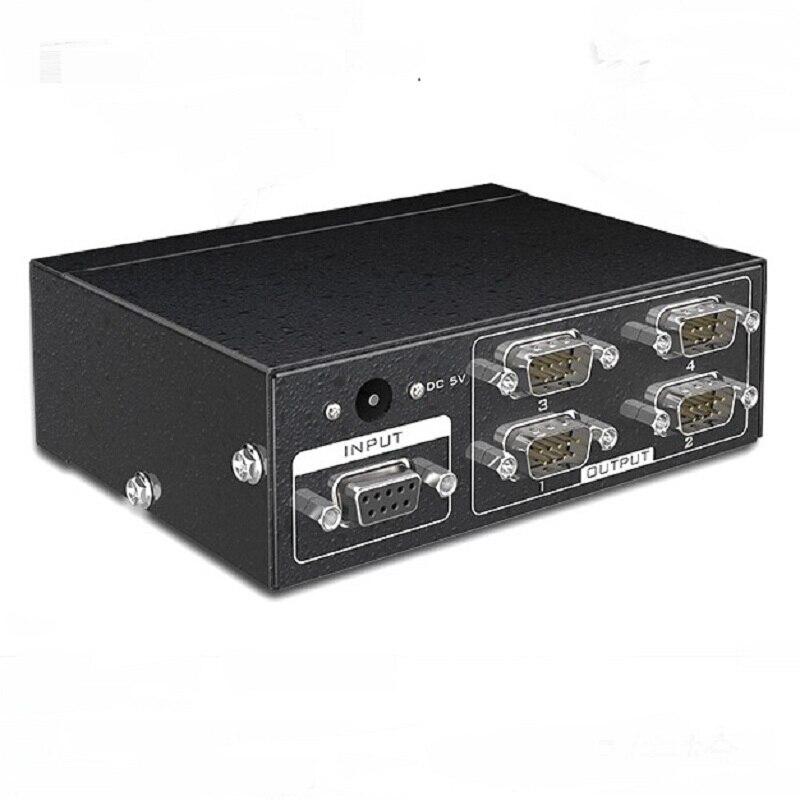 MT-VIKI 4 порта RS232 сплиттер DB9 последовательный сплиттер 1 в 4 выхода Поддержка порта двунаправленный передачи последовательный адаптер MT-RS104