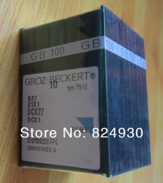Piezas de costura domésticas, aguja de coser DCX1 B27 para groz-beckert