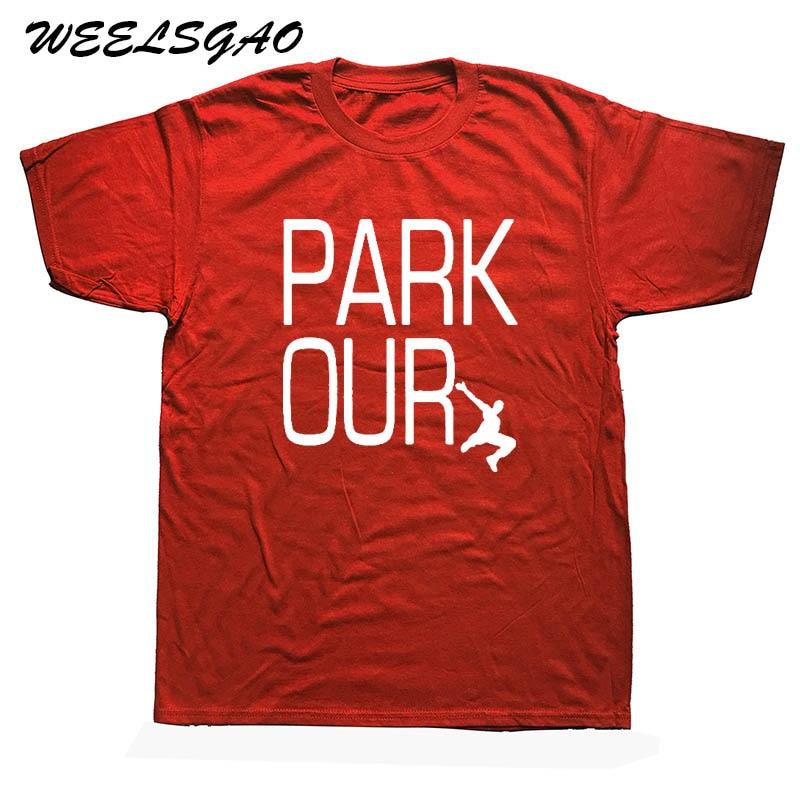 Parkour Man T-Shirt Cotton O Neck Mens Short Sleeve Mens Tshirt Male Tops Tees