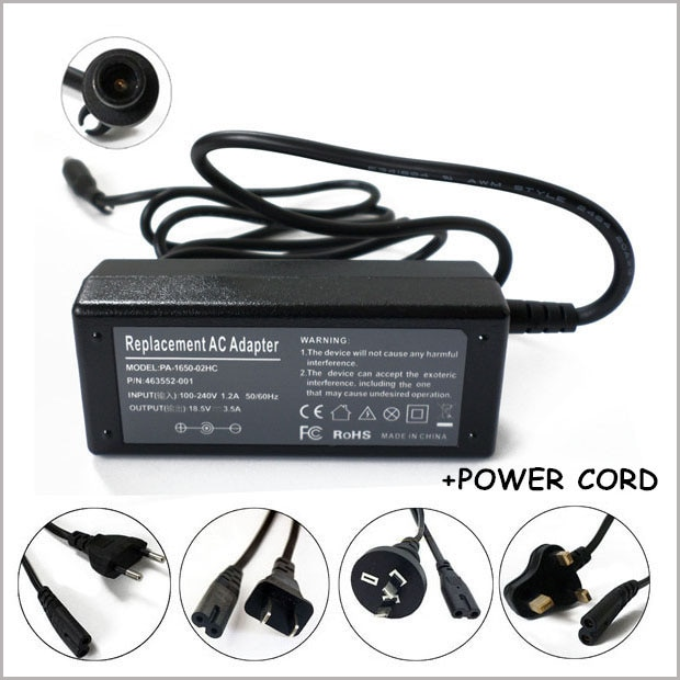 Portátil cargador/adaptador de CA fuente de alimentación y cable para HP Pavilion dv4-2145DX dv5-1235DX dv6-2150US dv4-1225DX dv4-2145DX dv6-1030US