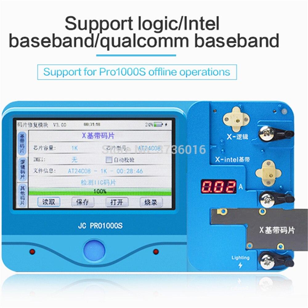ل ip 4S 6 7 8 و زائد X المنطق/القاعدي رقاقة القراءة توفير تحرير ، حرق مبرمج أداة مع JC الموالية 1000S اتصال استخدام