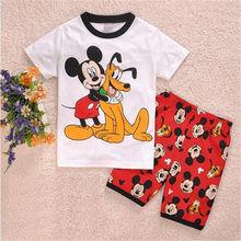Summer Baby Boy's Sleepwear Homewear Pyjamas Children Girl's Kids Cartoon Shorts Sleeve tshirt short sets Pajamas Suit