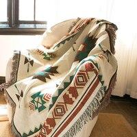 ESSIE HOME Kilim Blanket For Sofa Living Room Bedroom Rug Yarn Dyed Sofa Blanket Turkey Pattern Bedspread Tapestry