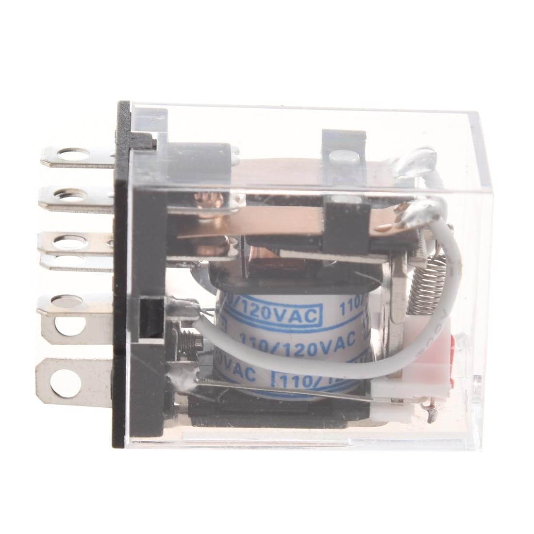JQX-13FL AC 110V bobina DPDT 8-Pin 8P relé de potencia electromagnética