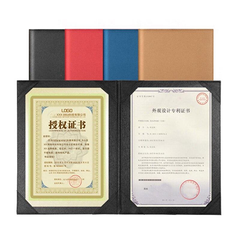 PU искусственная кожа A4 меню папка с обложкой меню папка меню Держатели и подставки для Конференции соглашение папки 1310