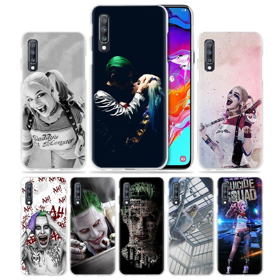 Funda de Suicide Squad para Samsung Galaxy A50 A70 A20e A40 A30 A20 A10 A51 A21 A9 A7 2018 funda de teléfono de PC transparente dura Joker Harley
