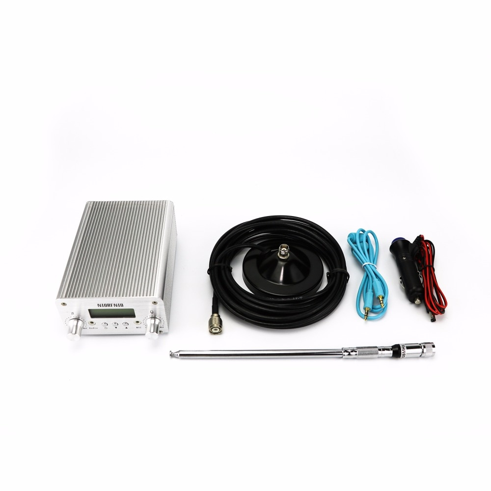 Envío Gratis NIO-T6A 1 W/6 W transmisor PLL FM Radio 76Mhz a 108MHz ajustable