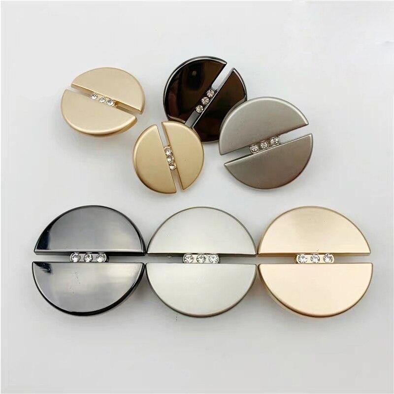10 шт., Модные металлические кнопки с бриллиантом, круглые кнопки 20 мм/23 мм/25 мм, кашемировые пальто, декоративная пряжка для шитья своими руками
