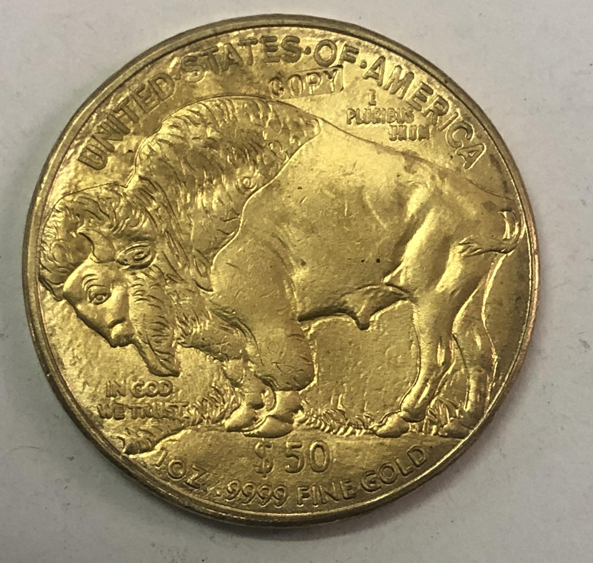 2008 dólares estadounidenses 50 dólares búfalo americano lingote de oro Coinage