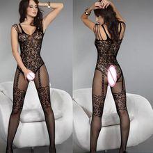 Noir Sexy érotique Lingerie femmes chaud body Sexy Costumes transparents intimes femmes body ouvert entrejambe produits sexuels