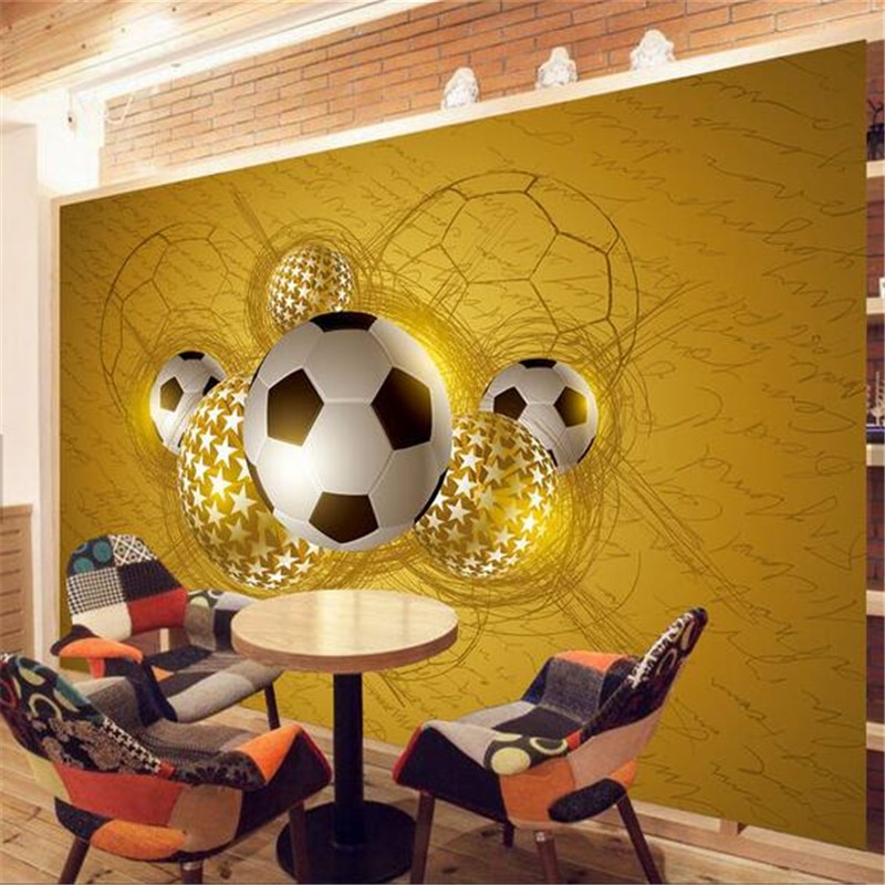 Papel pintado personalizado beibehang, murales de fotos en 3d, murales de ARTE CREATIVOS, entusiasmo como fuego, fútbol, Papel de pared, mural de Papel tapiz 3d
