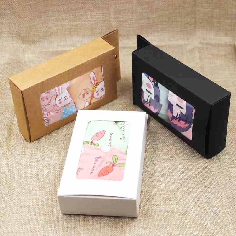 ZerongE, joyería multicolor, ropa interior para adultos/niños, percha de cartón, caja de exhibición de ventana, caja de embalaje de ventana de exhibición de dulces/gifs
