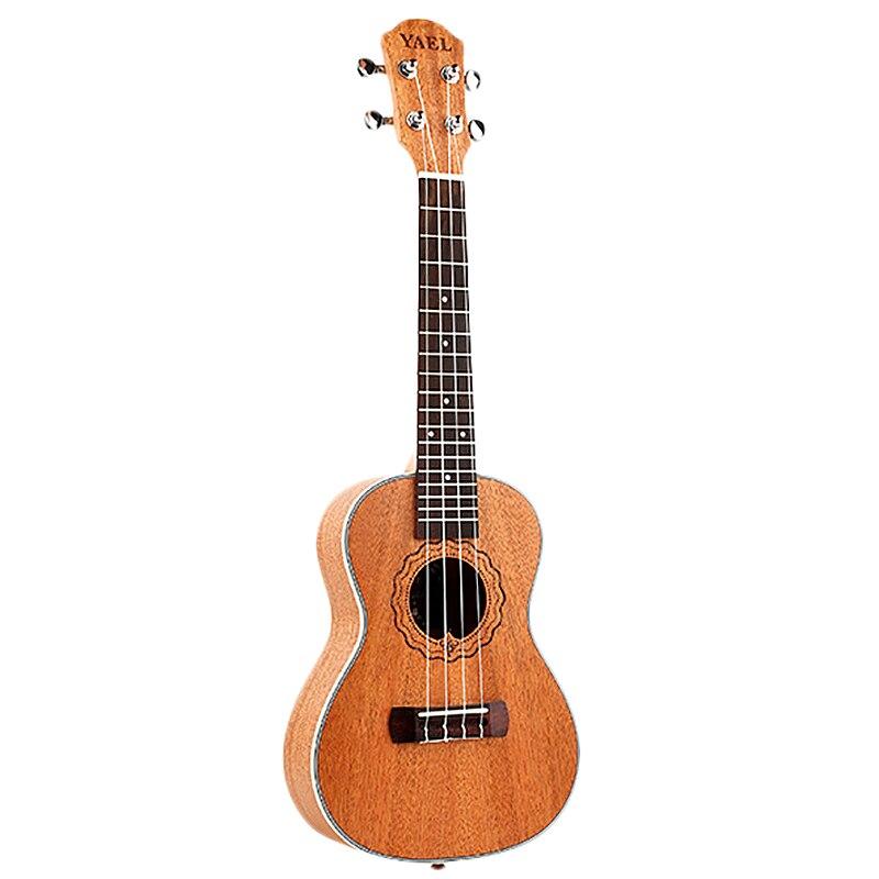 Ukelele de concierto de 23 pulgadas Yael, Mini Guitarra Hawaiana de 4 cuerdas, Uku, guitarra acústica y ukelele, palisandro caoba