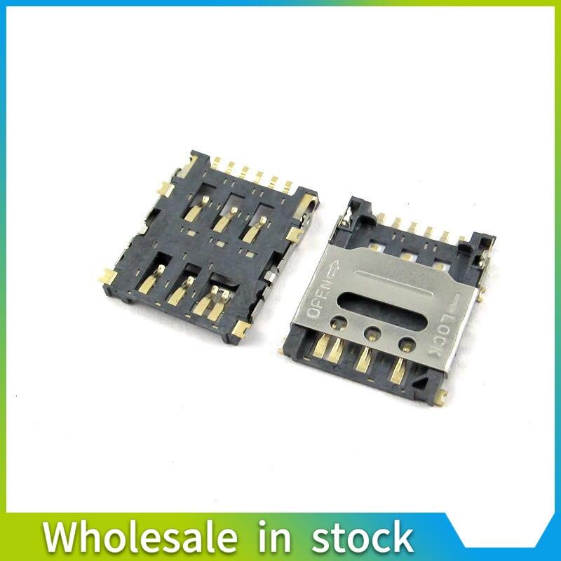 5PCS nano Micro SIM Flip Bar 6PIN Card Socket Connector Patch Type Slot Tray Holder Adapter Motherboard