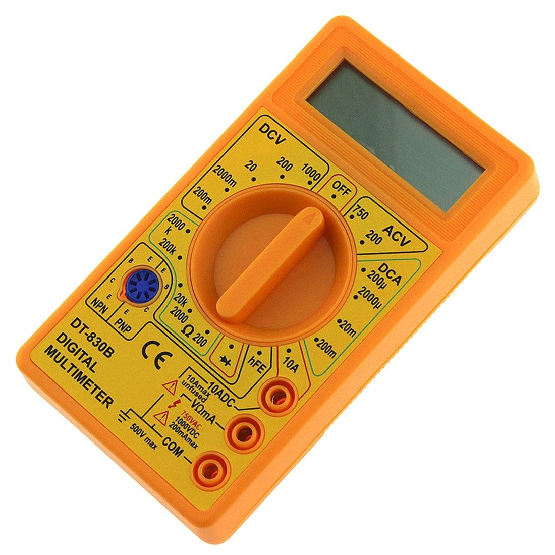AC/CC 750/1000V LCD Digital multímetro Mini multímetro sonda para voltímetro amperímetro ohmios medidor probador