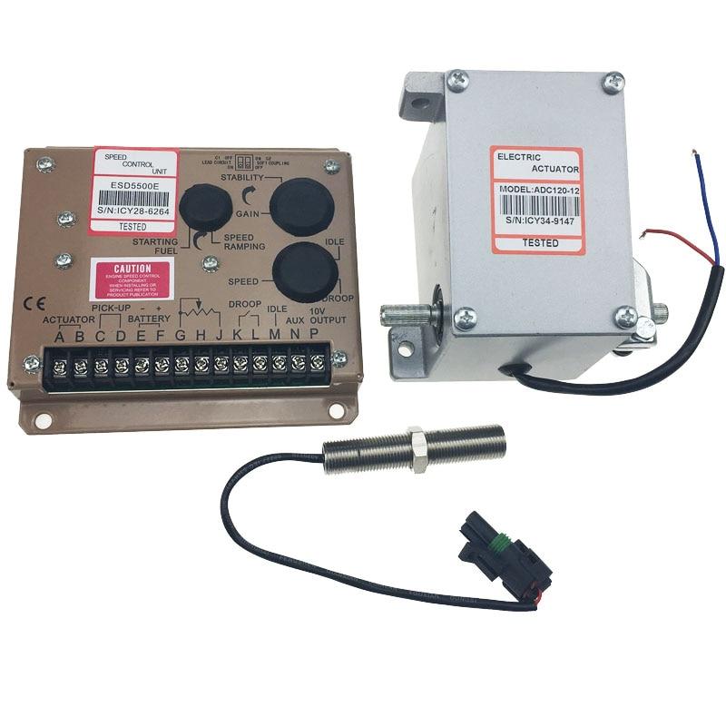ADC120 + ESD5500 + 3034572 المصنع الصيني! مولد كهربائي محافظ/سرعة تحكم ESD 5500E + ADC120 + MPU 3034572