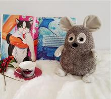 Candice guo plush toy stuffed doll cartoon animal fat mouse rat mole model kid children baby birthday gift christmas present 1pc