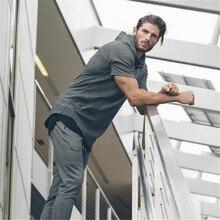 Men Summer Solid Short-Sleeve Fitt Sports Tshirts Casual Sports Shirts Muscle Streetwear T-shirts Homme Short Slim Fit Men z0613