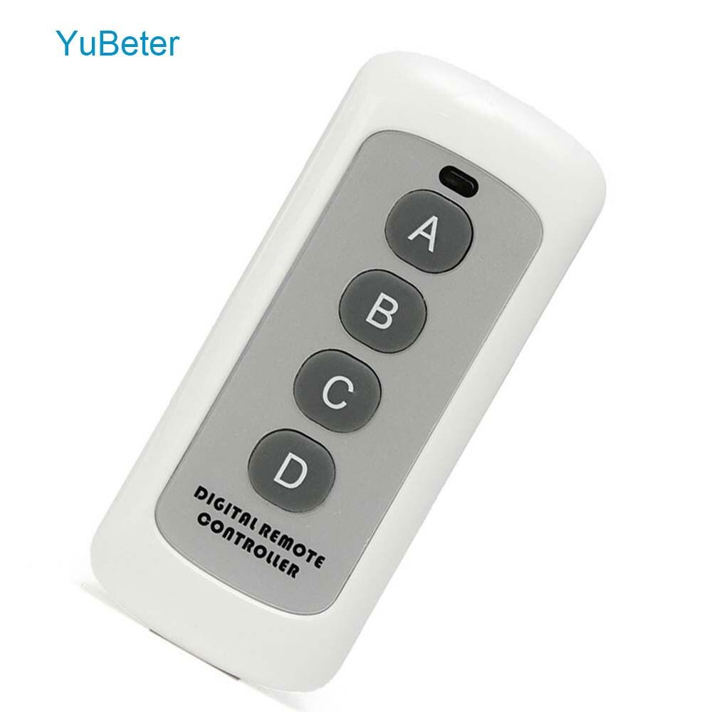 YuBeter 433Mhz EV1527 interruptor de Control remoto de código de aprendizaje 4 botones TRANSMISOR DE RF llave inalámbrica para puerta de garaje de casa inteligente dispositivo