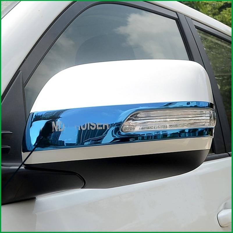 Для Toyota Land Cruiser Prado FJ150 2010-2018 зеркало заднего вида с боковым видом декоративная полоска Накладка для автомобиля-Стайлинг