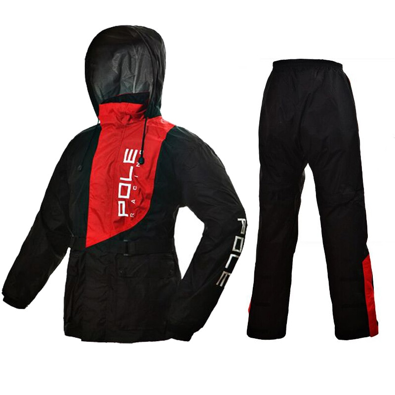 100% de caña impermeables de motocicleta al aire libre deportes de pesca hombre impermeable trajes bicicleta impermeable traje de moto chubasquero