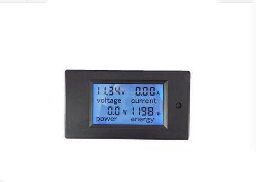 Dc 100a lcd volt atual kwh watt painel medidor de energia amperímetro voltímetro multímetro